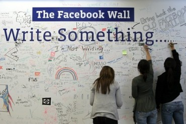 Facebook real wall Write Something
