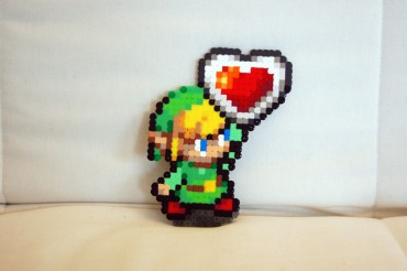 Link in zelda in pixel art